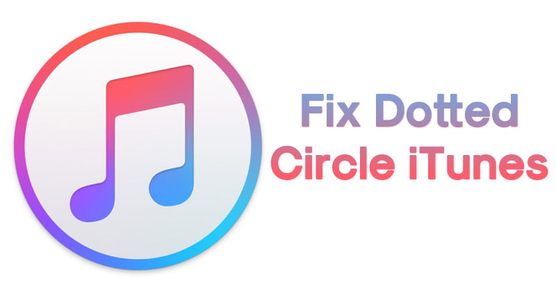 What does the circle in itunes mean