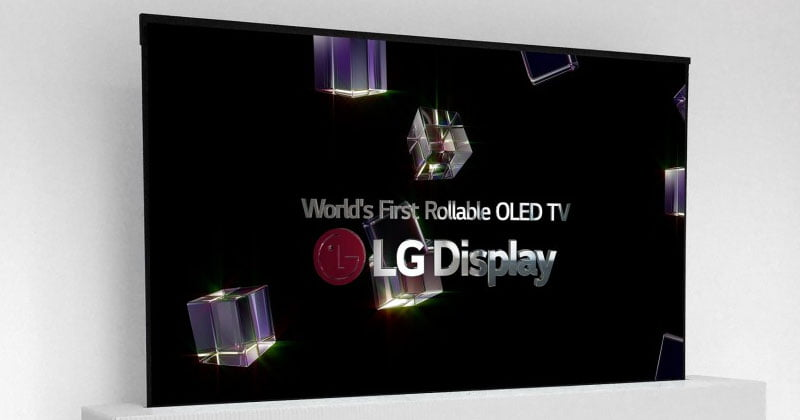 LG Unveils World's First 65-Inch Rollable OLED TV