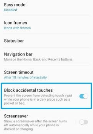 Fix the Touch Input Blocked Note 9 issue