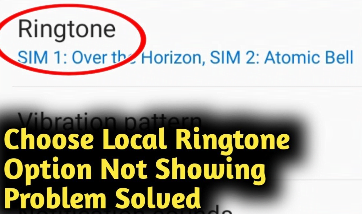 Why is my local ringtone not showing in Redmi 8A (FIXED)